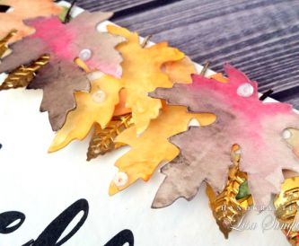 Handmade Card Tutorial - Autumnal Watercolour Die Cuts