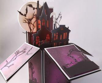 Spooky House Halloween Pop Up Box Card
