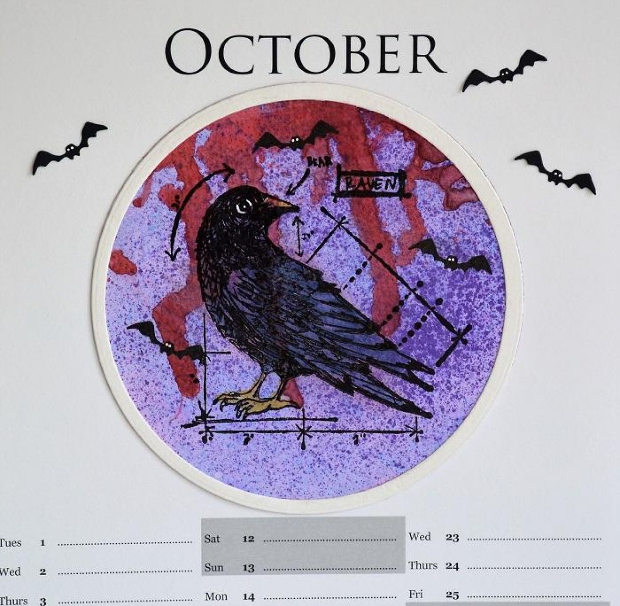 October Calendar Page Sylv 2