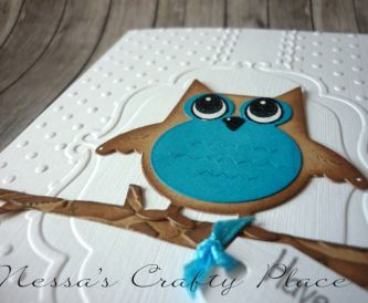 Quick and simple embossed Owl Birthday card