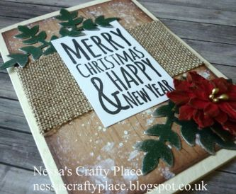 A Rustic Style Country Christmas Card Tutorial