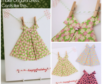 Origami Dress Card - Video Tutorial
