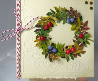 Natural Autumn Wreath Card - Great Kids Craft Project!