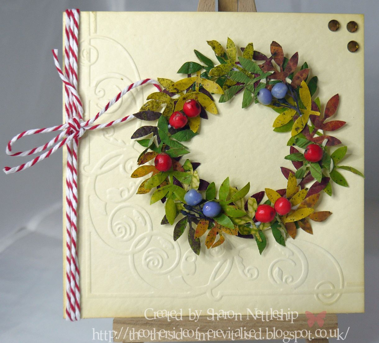 Natural Autumn Wreath Card Great Kids Craft Project