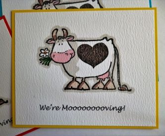 'Moooooving' Postcards - New Home Cards