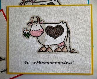 'Moooooving' Postcards - New Home Cards