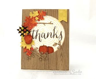 Autumn Inspired Thank You Card