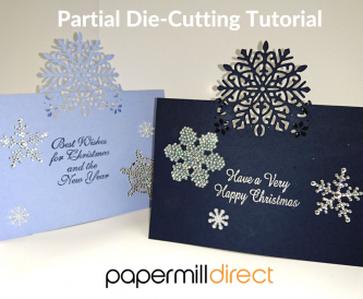 Partial Die Cutting - Snowflake Christmas Card