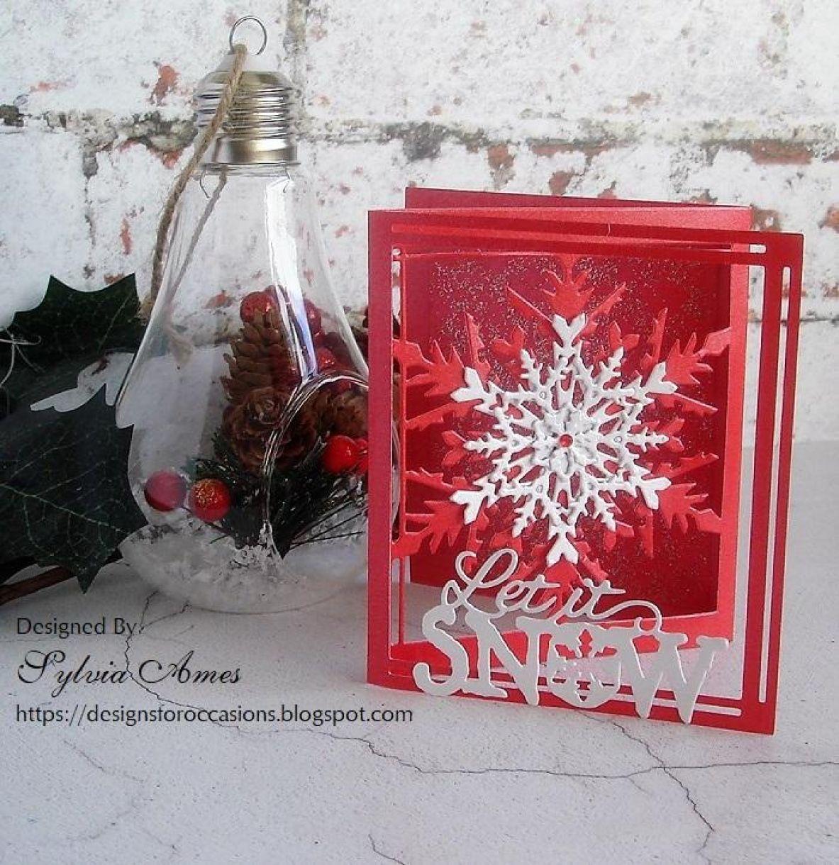 Pearlescent Tri Fold Snowflake Card 2