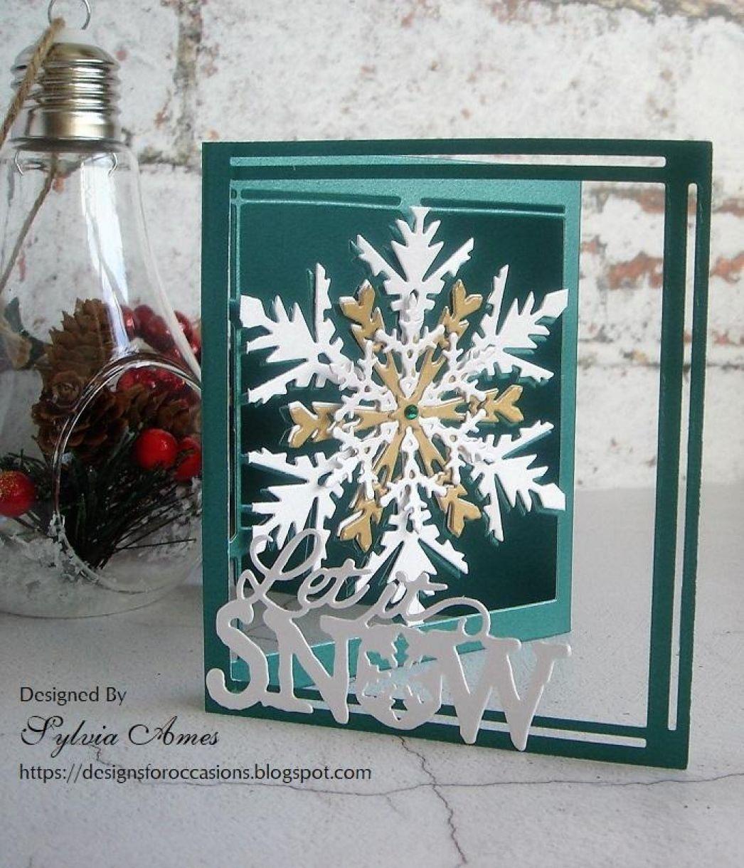 Pearlescent Tri Fold Snowflake Card 4