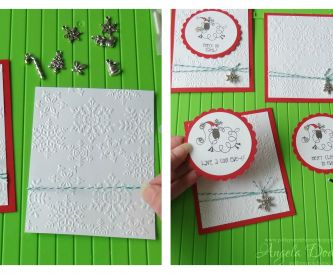Easy Christmas Cards - Batch Making How-To
