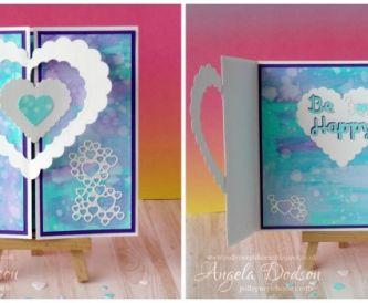 Inked Gate Fold Card - Step By Step Tutorial