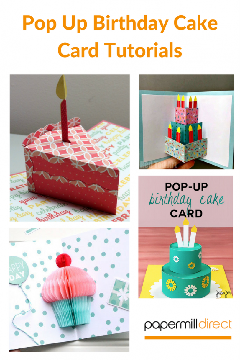 Pop Up Birthday Cake Card Tutorials