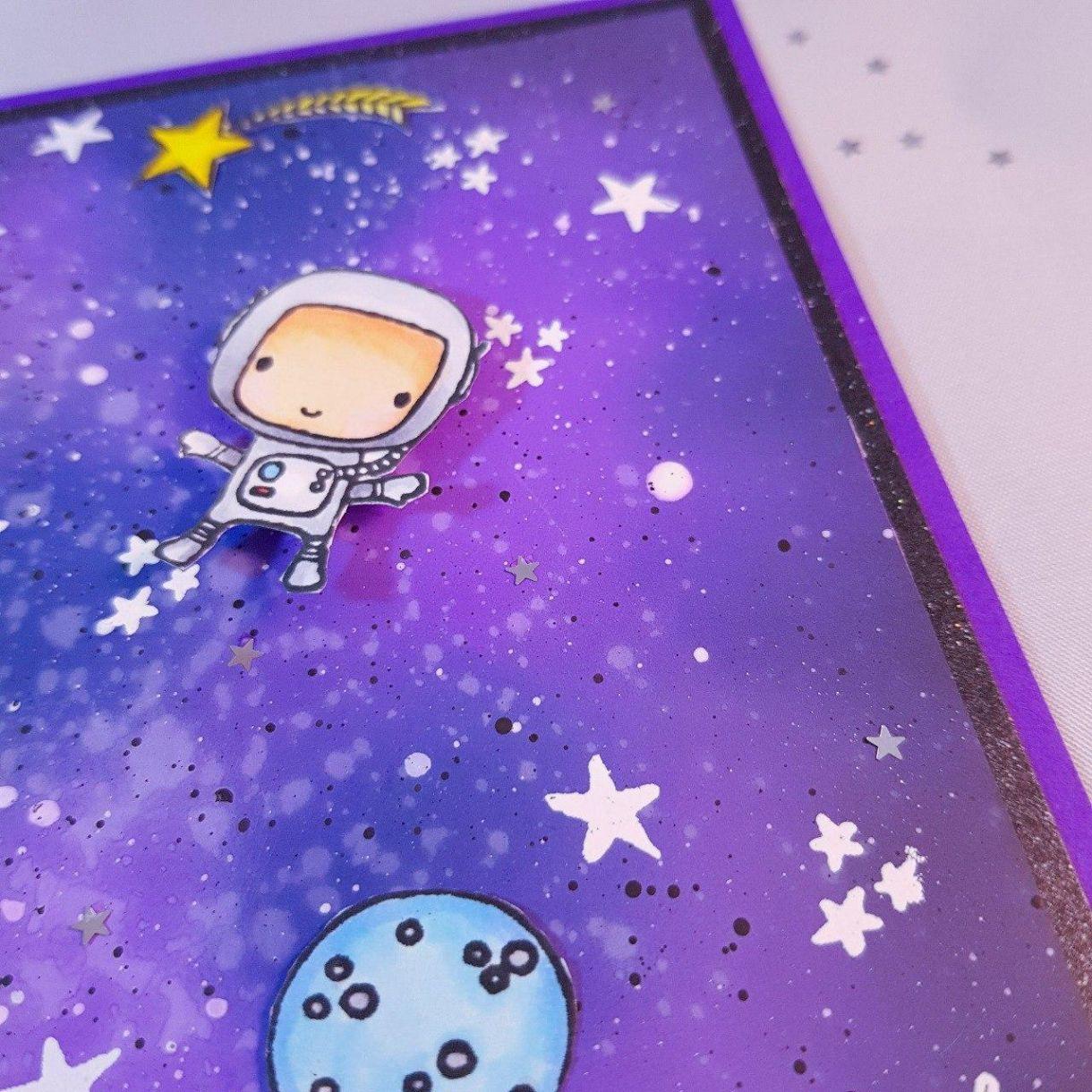 Purple Astronaut Close Up