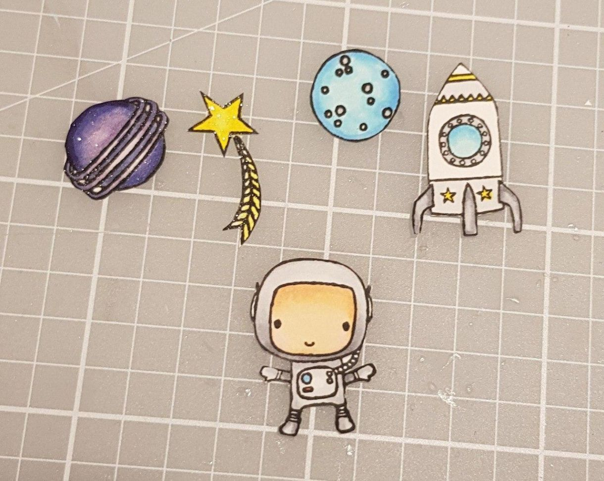 Purple Astronaut Elements