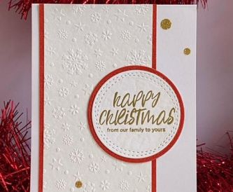 SIMPLE RED & WHITE CHRISTMAS CARD