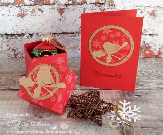 Robin Gift Box And Matching Christmas Card
