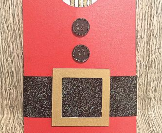 Santa Gift Card Envelope Holder