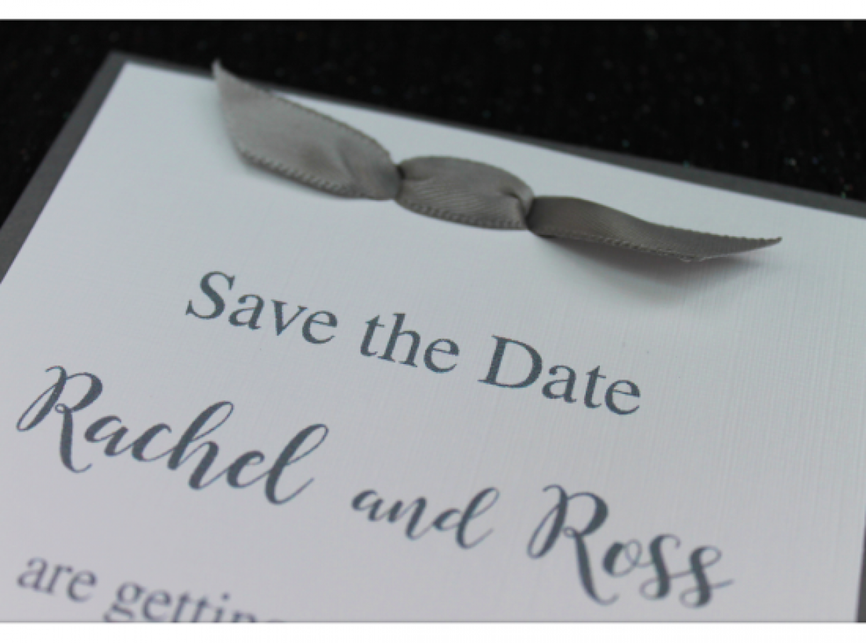 Simple  Bow  Wedding  Invitation