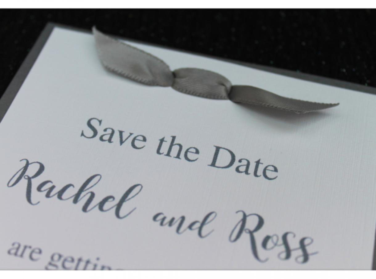 Simple  Bow  Wedding  Invitation