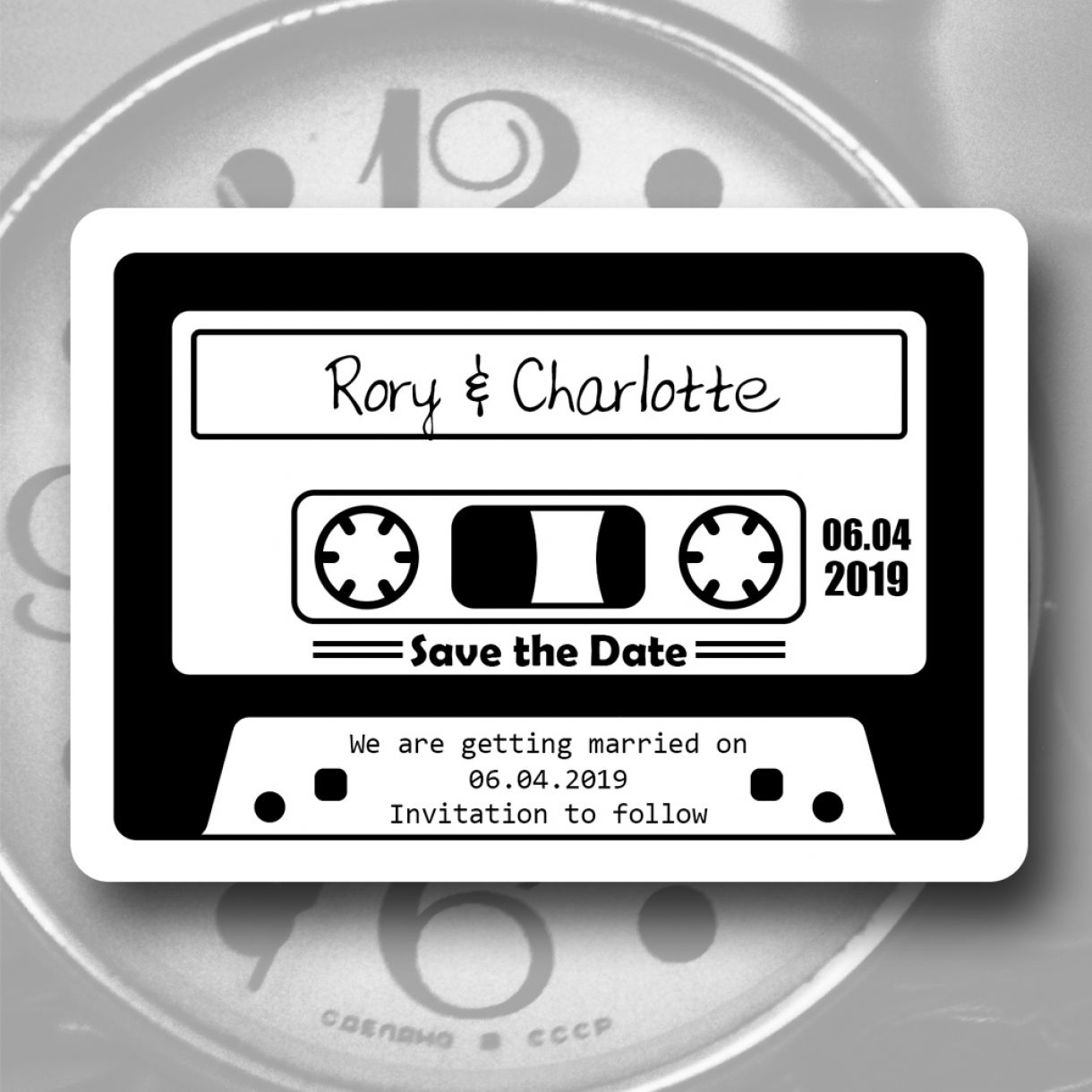 Save The Date Madness Retro Cassette Tape Save The Date Magnet