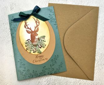 How To Make A Stag Christmas Card