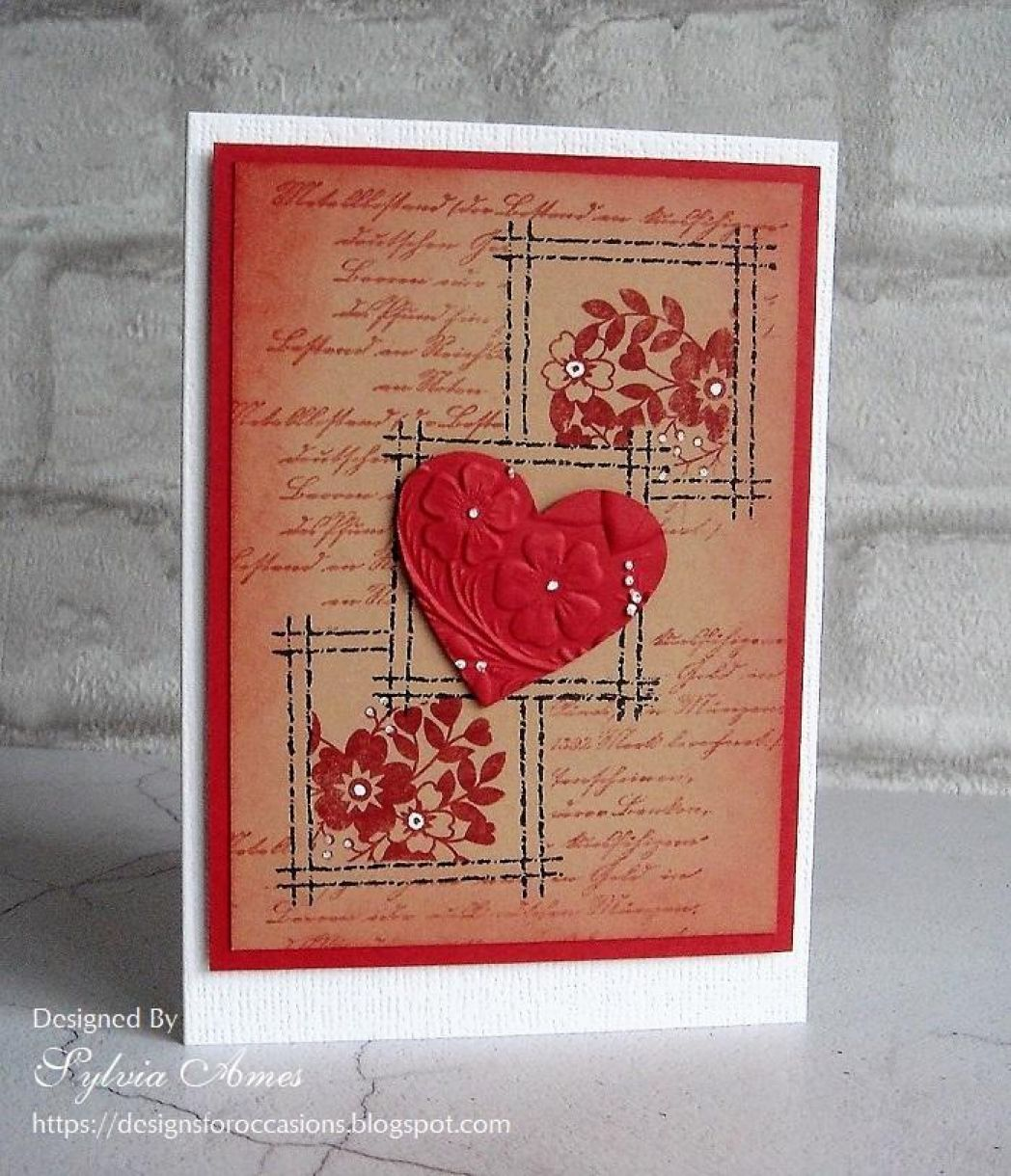 Stamped Valentine With Embossed Heart 4