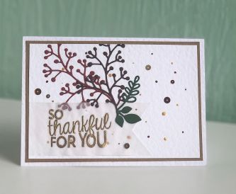 AUTUMNAL THANK YOU CARD