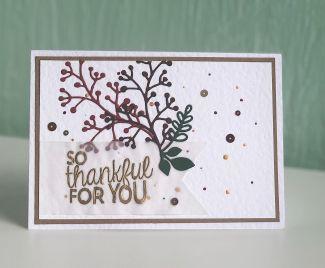 AUTUMNAL THANK YOU CARD