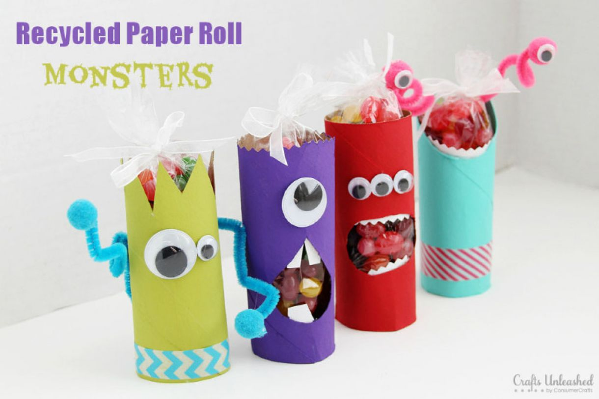 Toilet Paper Roll Crafts Monsters