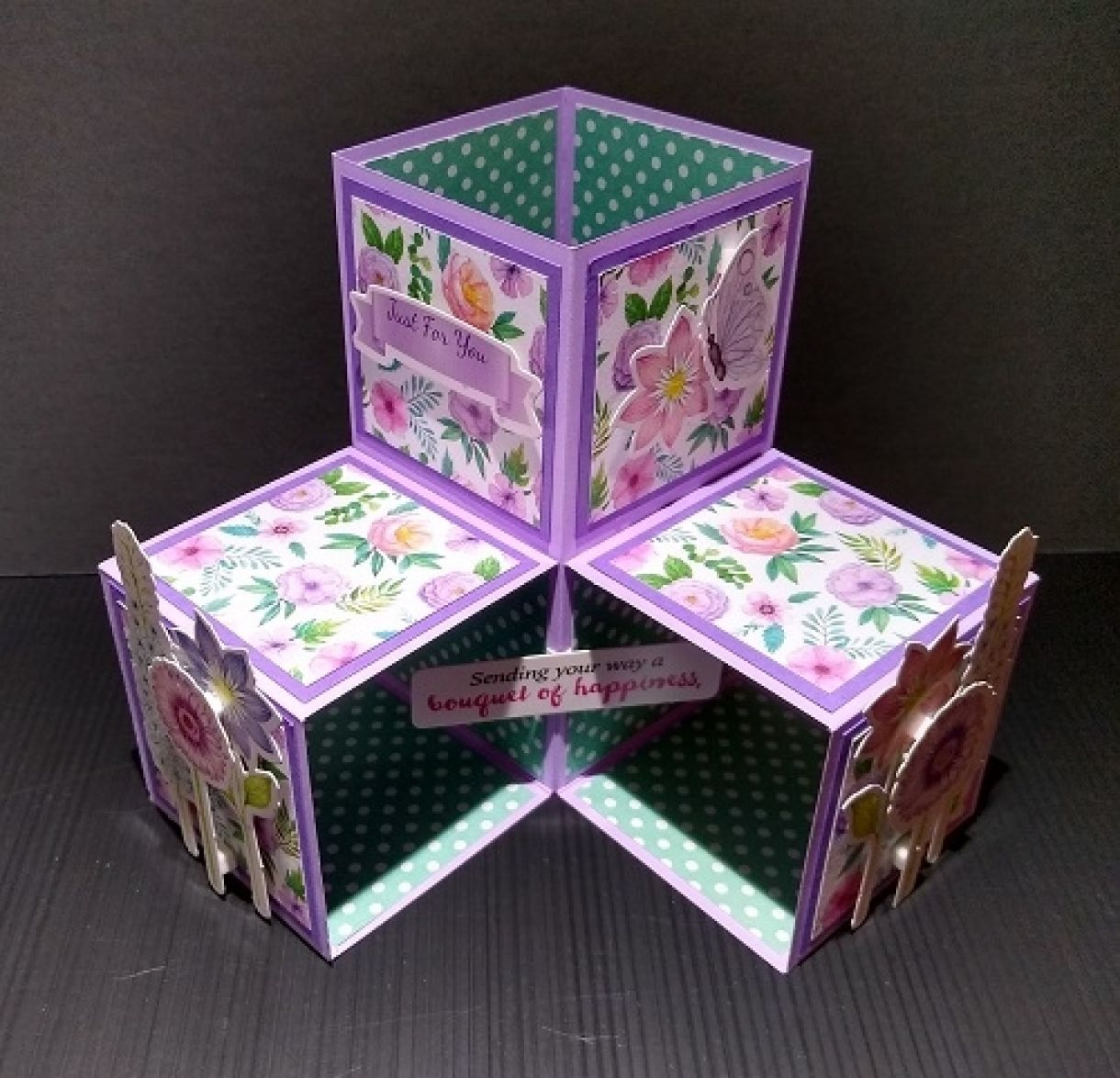 Triple Pop Up Cube Card 2