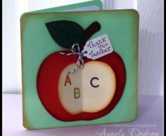 How to make a Thank You Teacher Apple Card