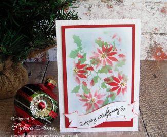 Quick Batch Make Poinsettia Cards