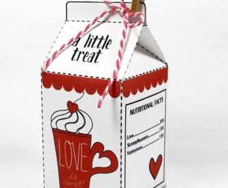 Valentine Milk Carton & Gift Tags - Free Printables
