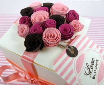 Valentine Gift Box - Rolled Flowers Tutorial