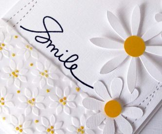 Embossed Vellum Daisy Card