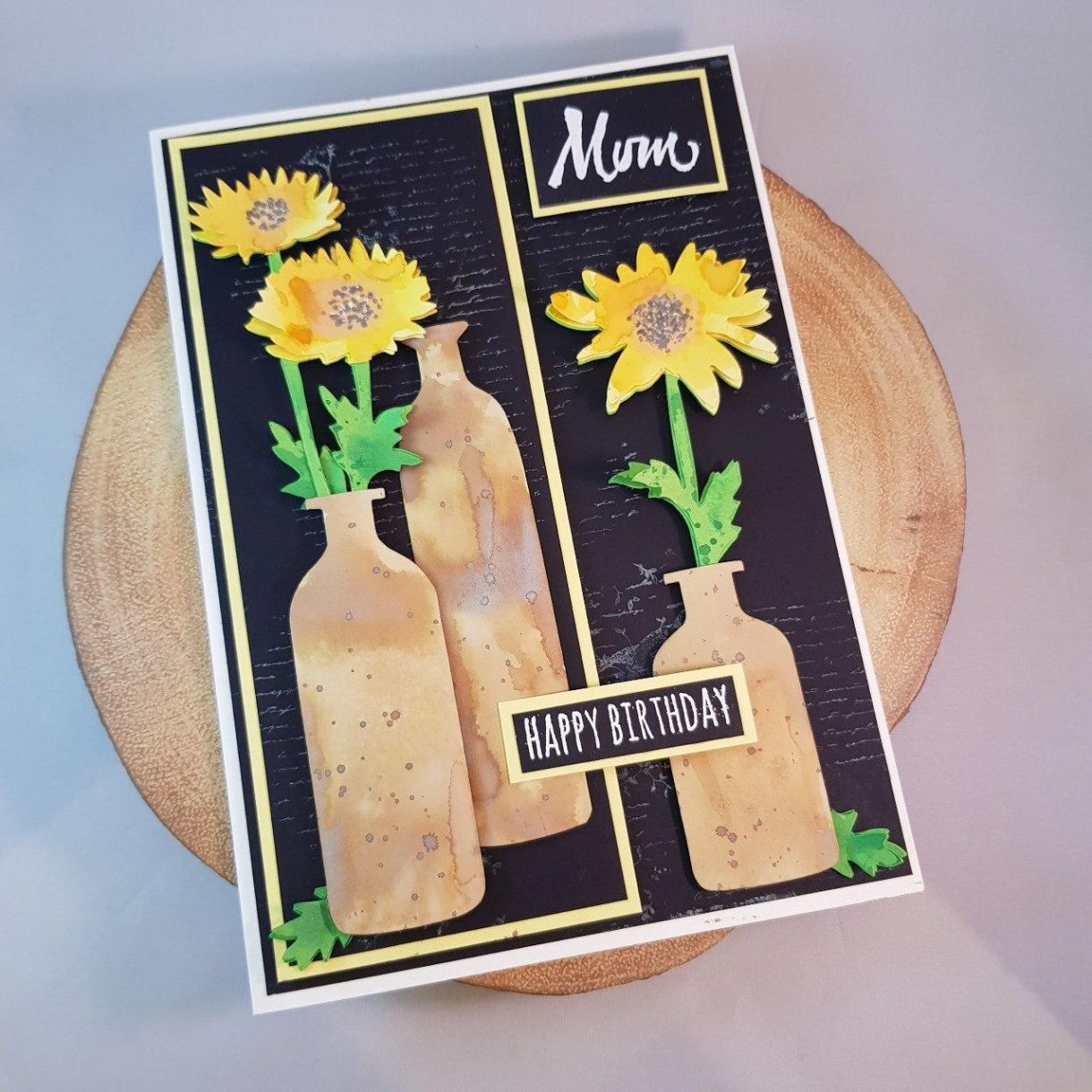 Wildflower Card On Log