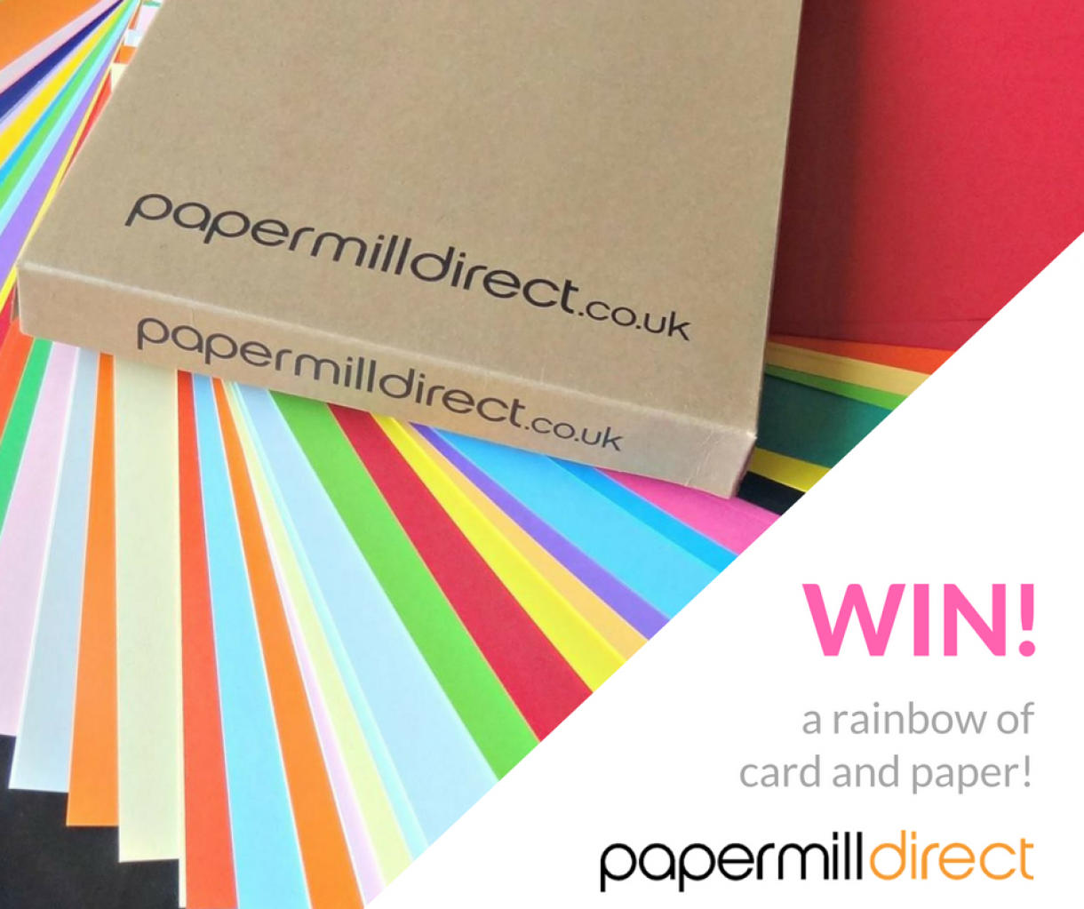 Win A  Rainbow Of  Card   Paper!