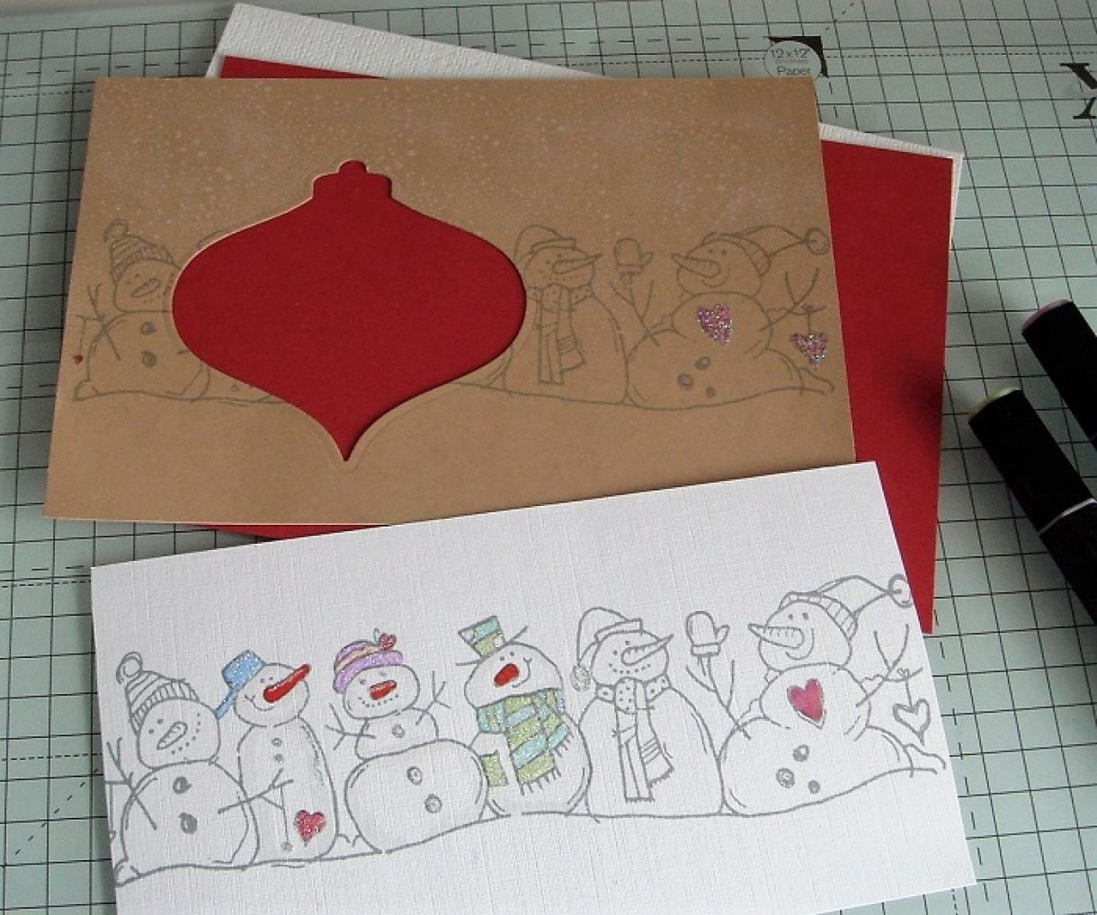 Woodware Snowmen Cut Out Card 7