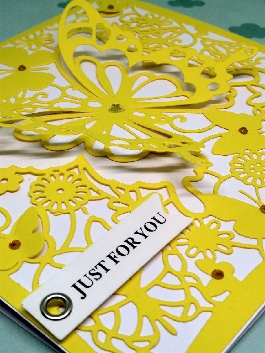 Yellow Die Cut Card 3