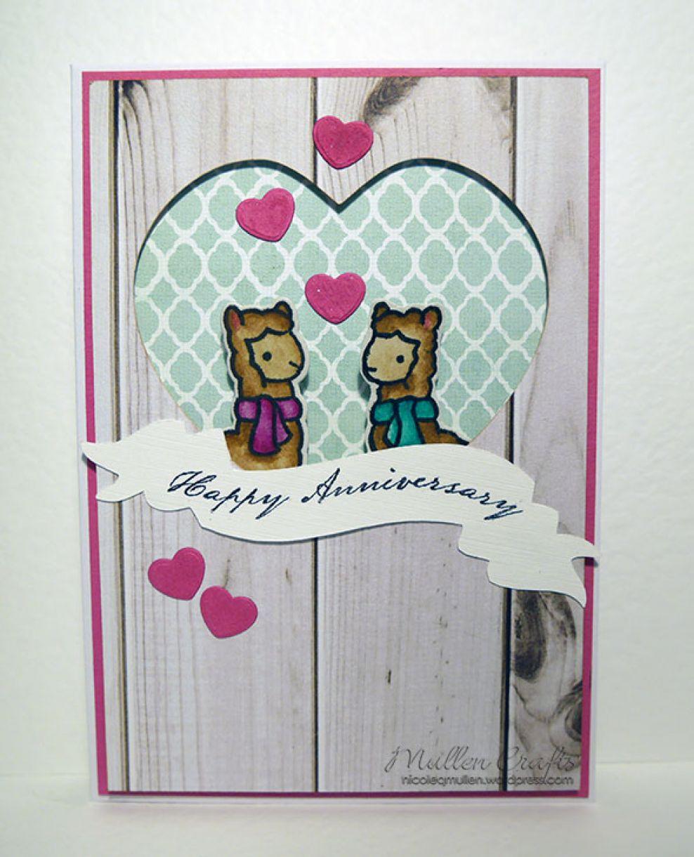 Alpaca Anniversary Card
