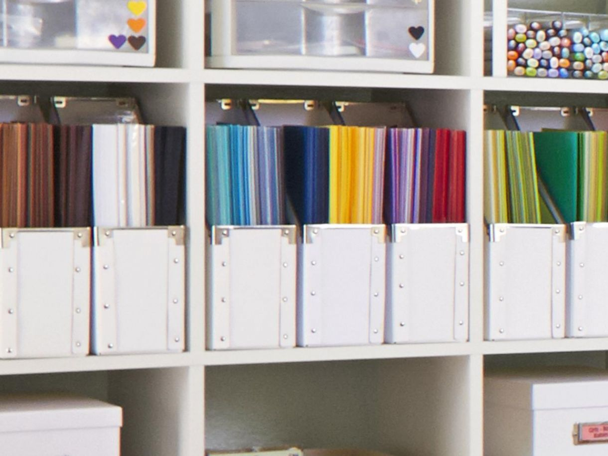 Amazing Craft Room Paper Storage