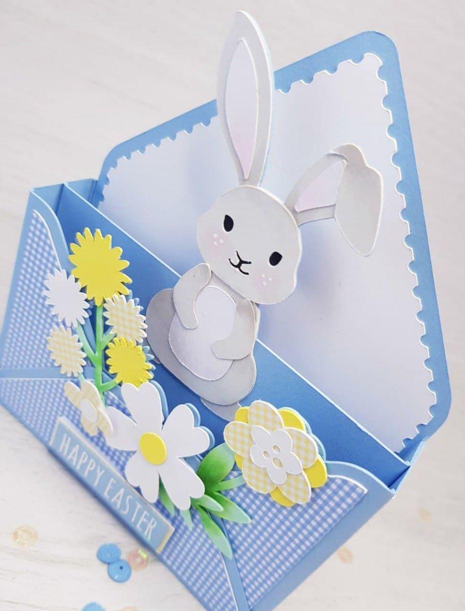 Apb Easter Bunny Envelope Card Close Up