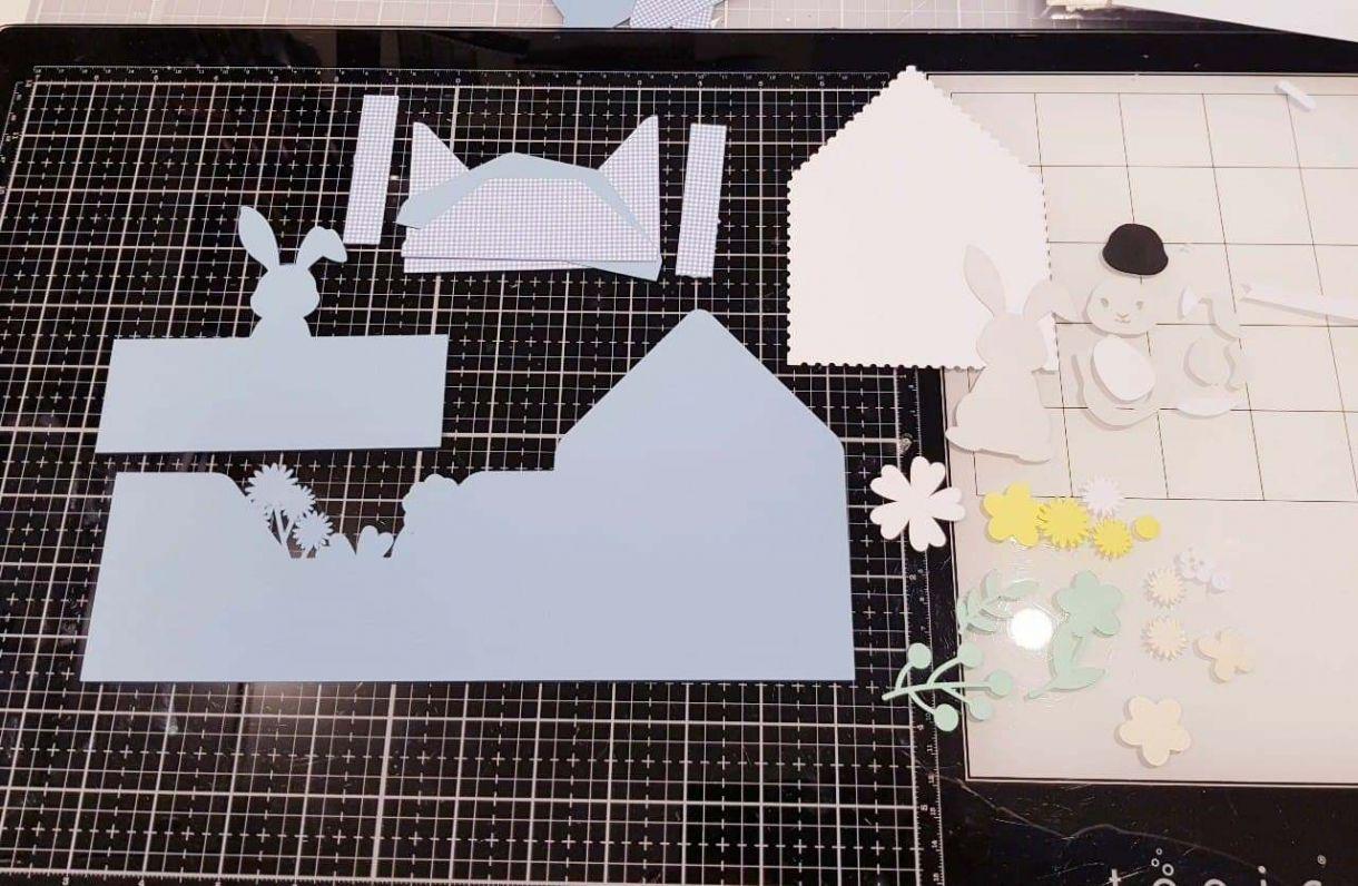 Apb Easter Bunny Envelope Card Cut Pieces