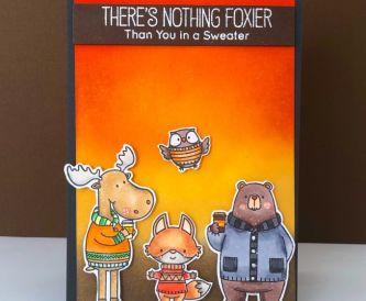 Autumn Critter Card