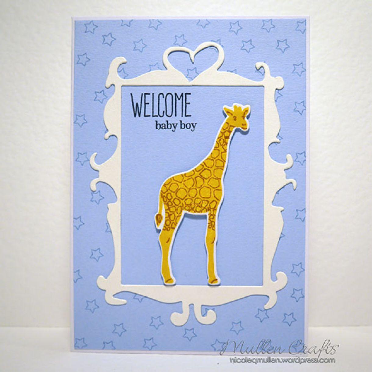 Baby Boy Giraffe Card 1