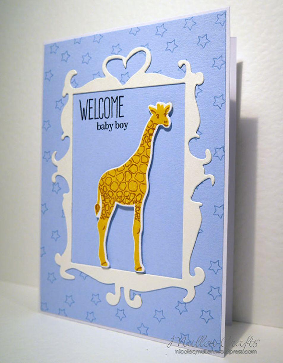 Baby Boy Giraffe Card 2