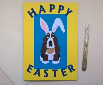 How To Make A Basset Hound Easter Bunny Using A Die Cutter Or Scalpel