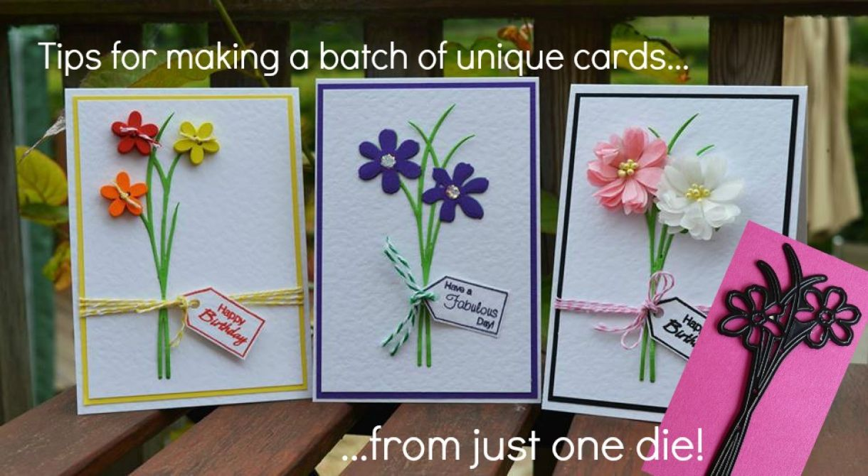How To Make A Batch Of Cards Using One Died A Few