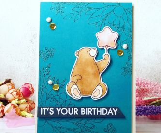 A Sweet Birthday Bear Card